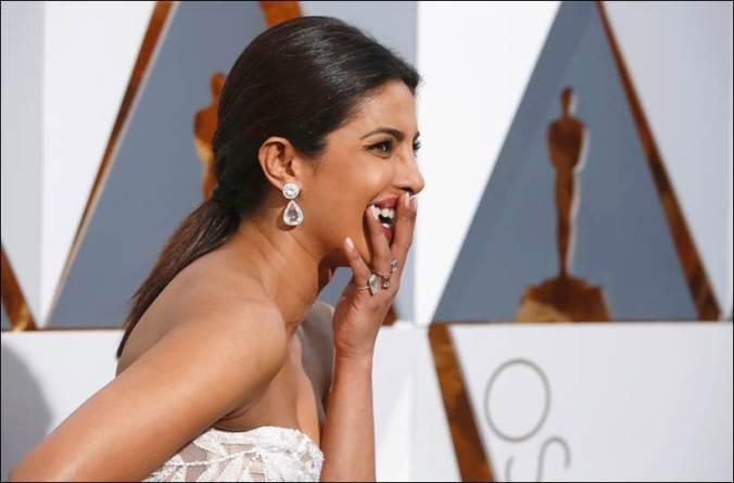 Chopra arrives at the 88th Academy Awards in Hollywood