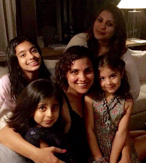 Lara Dutta with Family