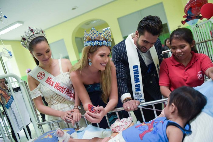Ms. World Mr. World PGH Visit