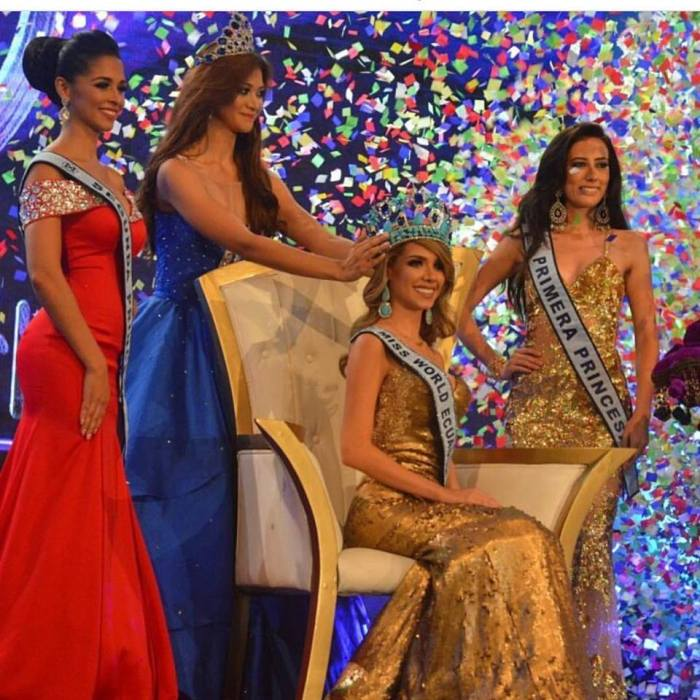 Miss World Ecuador Romina Zeballo Savellan