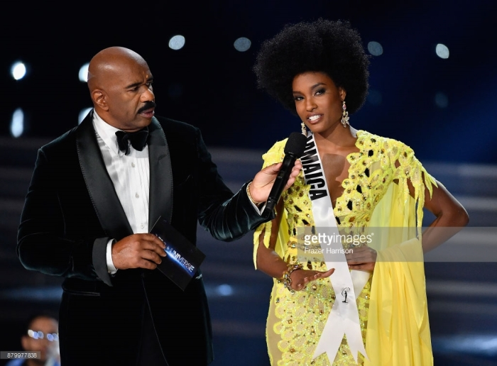 Davina Bennett Miss Universe 2017 Jamaica Question answer.jpg