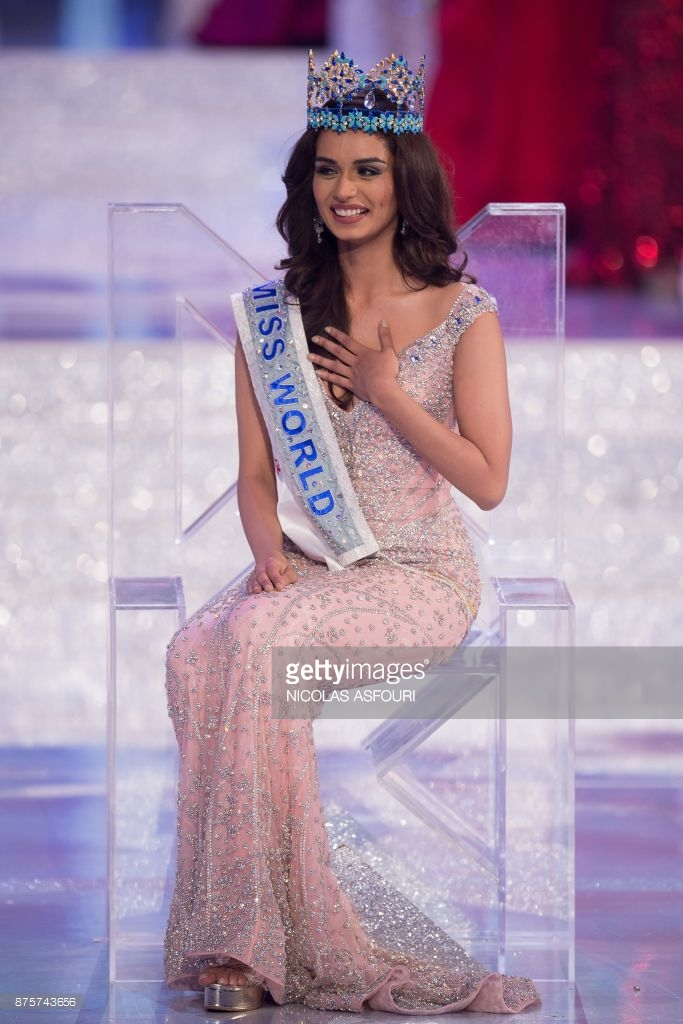 Falguni Shane Peacock Gown Miss World 2017 Manushi Chhillar