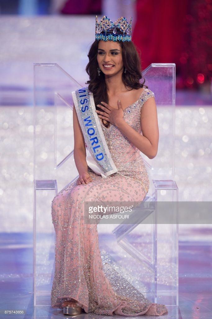 Falguni Shane Peacock Gown Miss World 2017 Manushi Chhillar