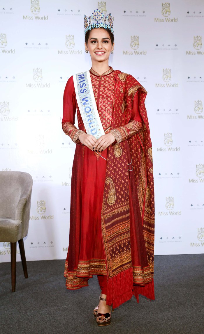 Manushi Chhillar press conference delhi