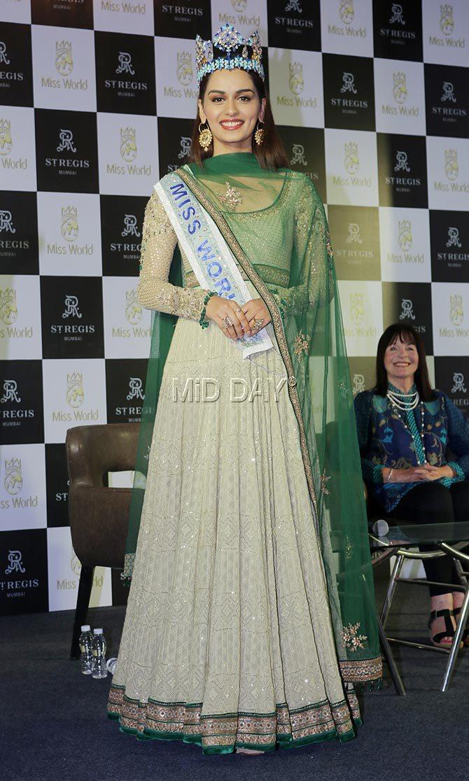 manushi chhillar press conference mumbai