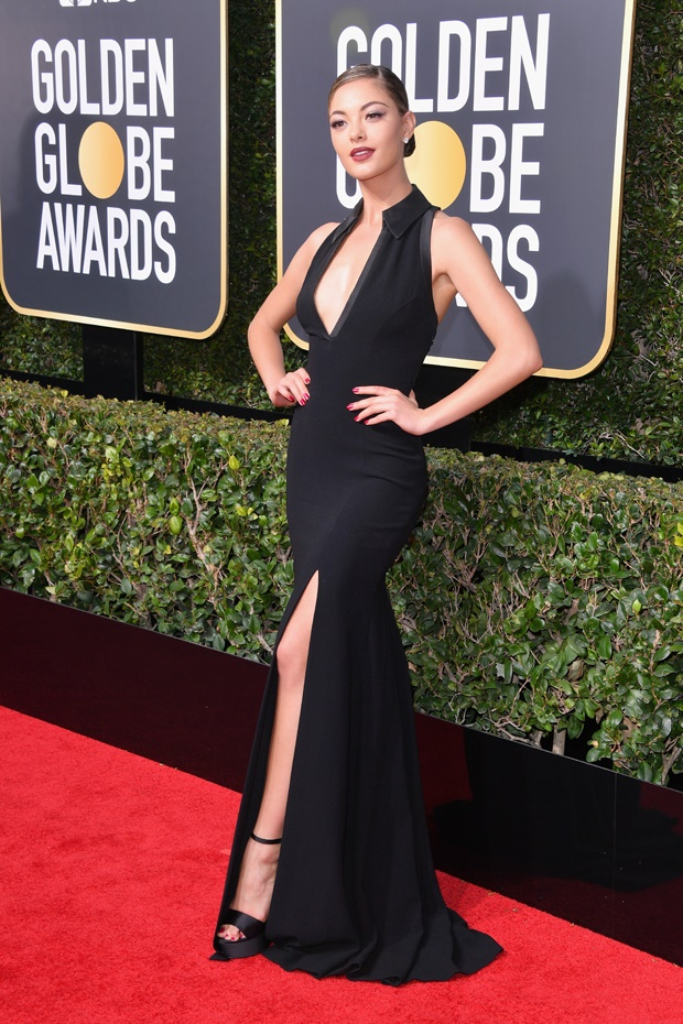 demi leigh nel peters golden globes 2018
